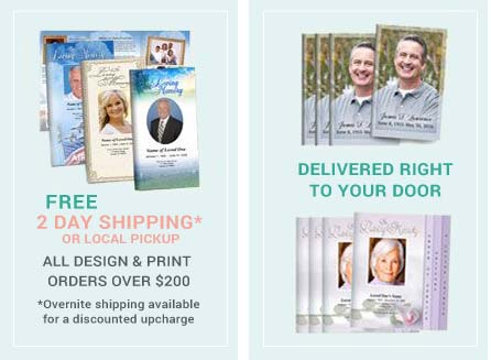 free shipping funeral programs